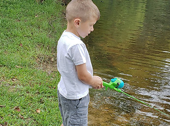 Fishing at Dogwood Acres Campground