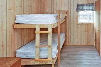 Deluxe Cabin Bunk Beds at Dogwood Acres Campground